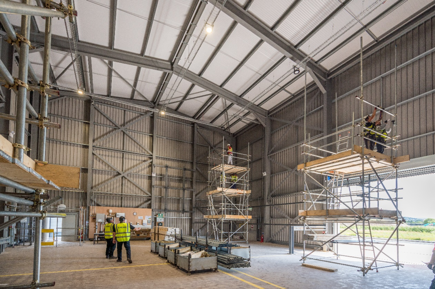 Scaffold structure in our Construction Training Centre Facility, Discover our scaffolding courses